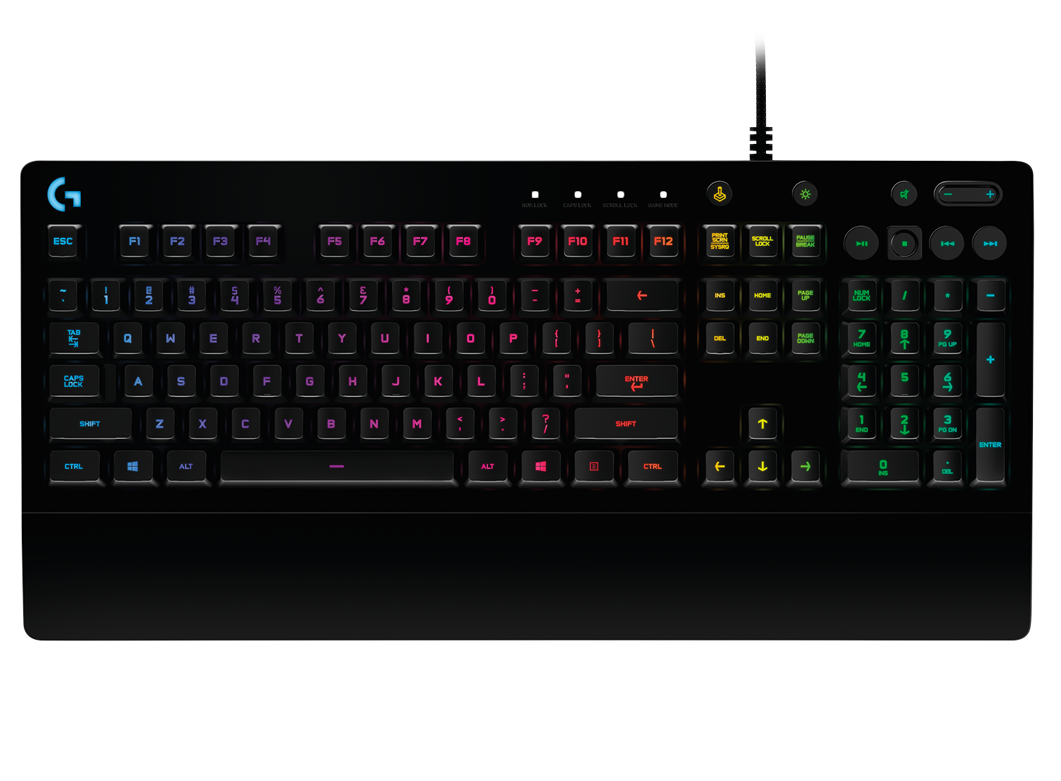 Logitech 920-008083 G213 Prodigy Gaming Keyboard W// 16.8 Million Lighting Colors