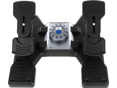 Flight Rudder Pedals | Professional Simulation Rudder Pedals with Toe Brake