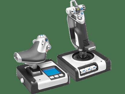 X52 H.O.T.A.S. | Контроллер для игровых симуляторов, состоящий из джойстика и рычага управления