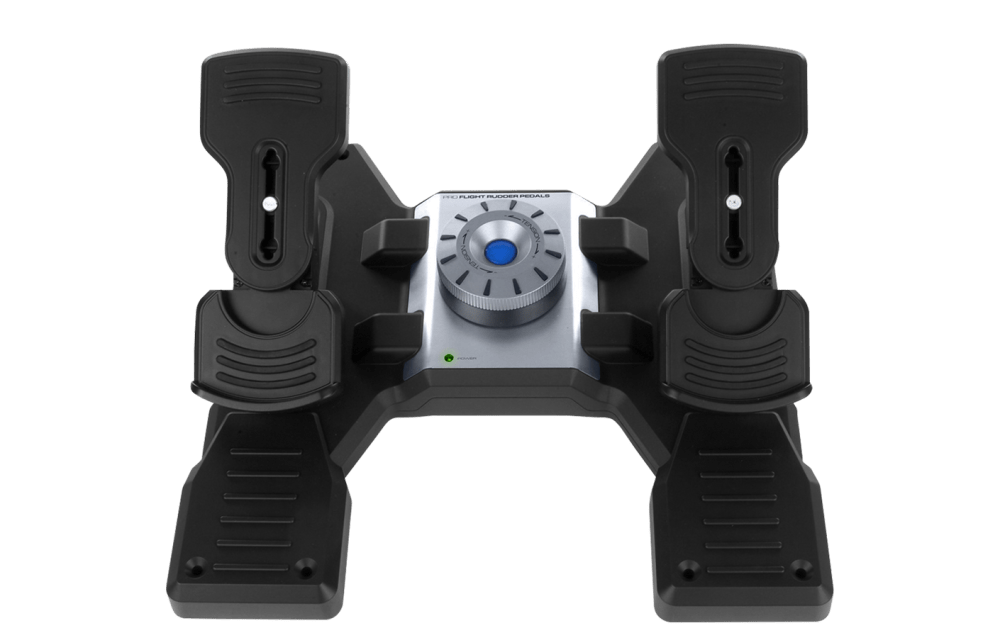 flight rudder pedals professional simulation rudder pedals with toe brake