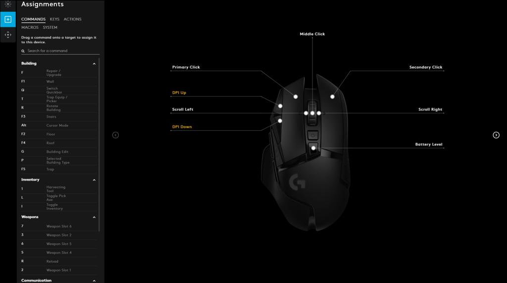 G502 LIGHTSPEED | プログラマブルボタン