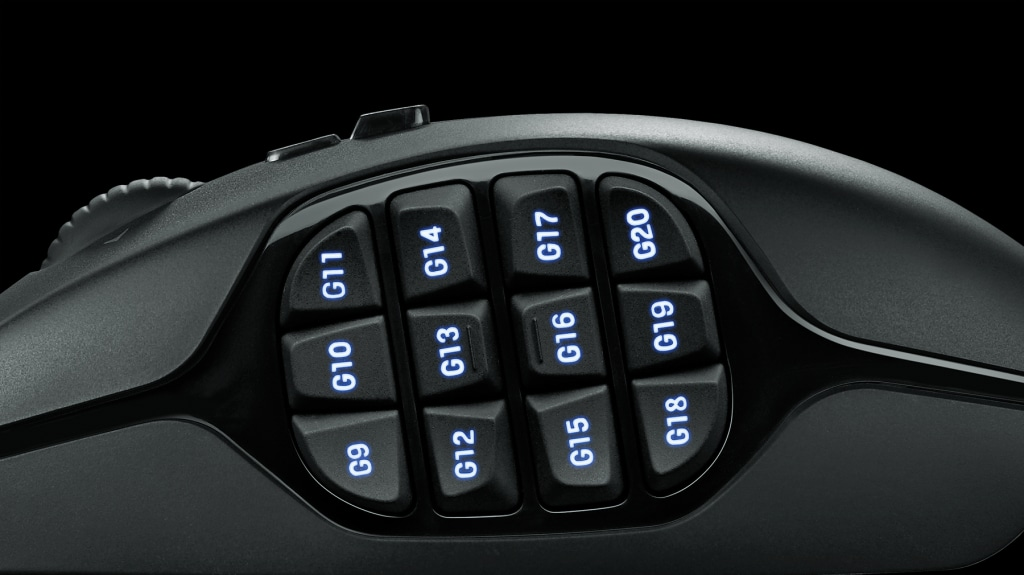 Logitech G600 Mmo Gaming Mouse 20 Buttons Lightsync Rgb