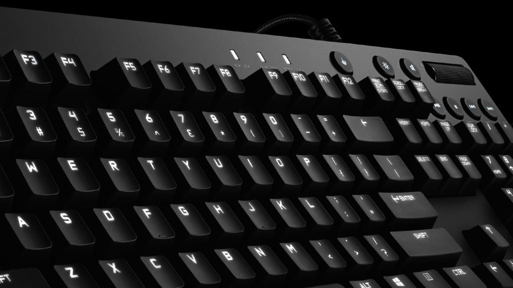 Teclado mecánico con retroiluminación G610 Orion Brown para juegos