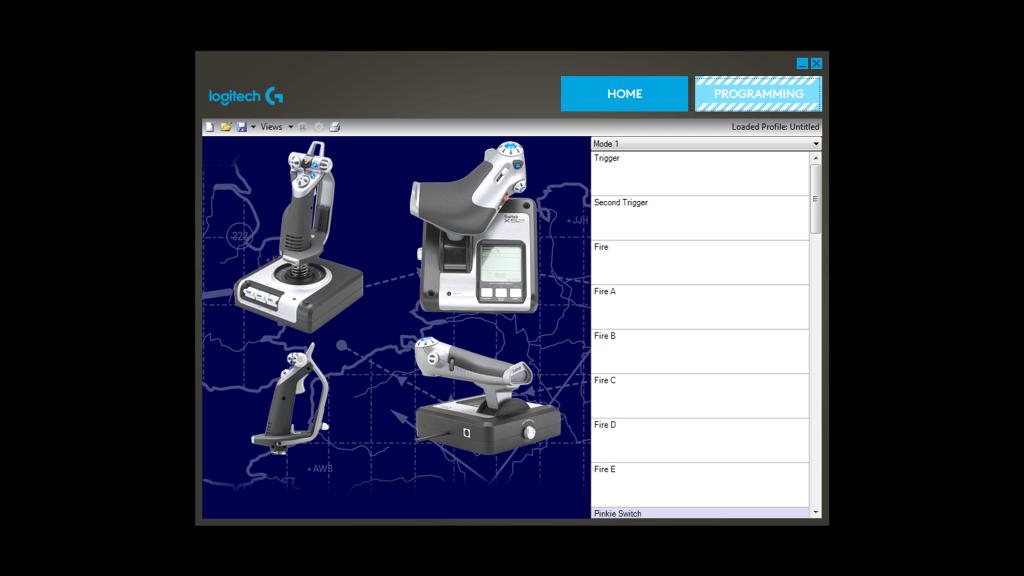 Controle de simulação com manete e joystick X52 H.O.T.A.S.