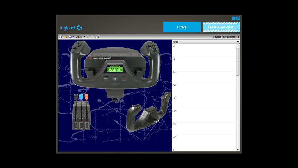 System wolanta lotniczego, profesjonalny wolant i panel przepustnicy do symulatorów