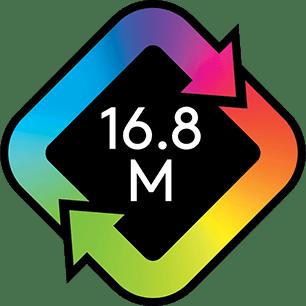 16,8 millió programozhatót szín