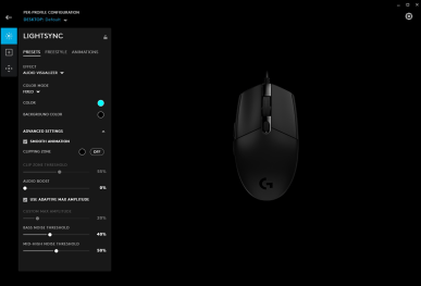 SOURIS G203 | VISUALISEUR AUDIO