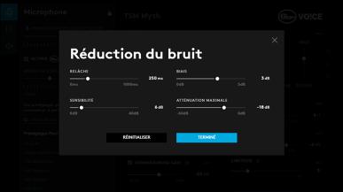 RÉDUCTION DES BRUITS